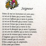 prière Saint Francois d'Assise
